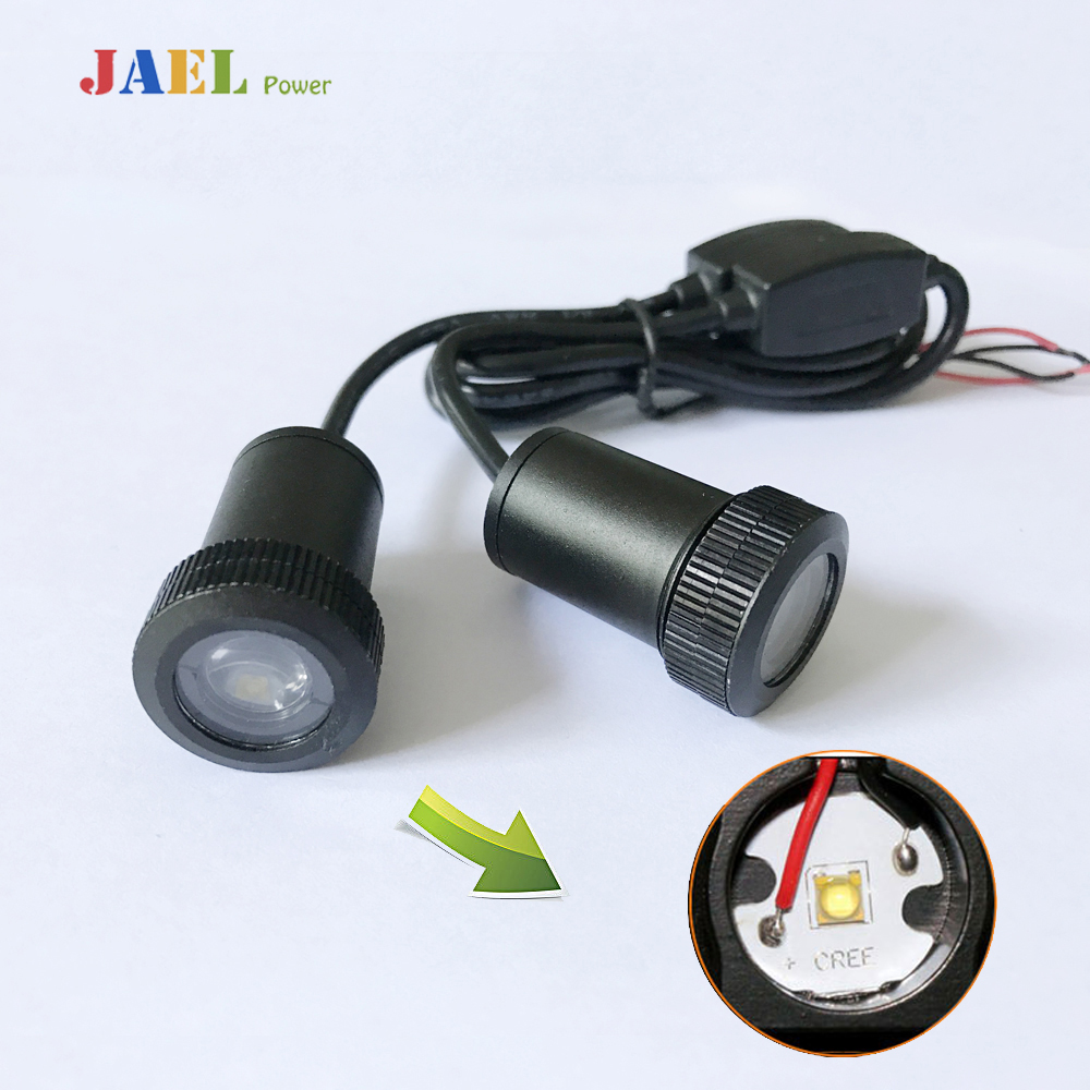 2PCs LED Door Ghost Shadow Light Courtesy Laser Projector Puddle lights Case For VW Logo on the Ground