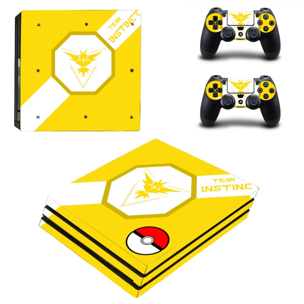 Game accessories For Playstation PS4 PRO Console & Controller Skin Stickers For PS4 PRO Controller 0358
