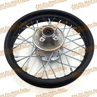 Dirt Pit Bike Rear Steel Iron 1.85 12 inch Rims Black Gold Red Blue Green Silver For KLX Apollo