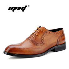 New Men Dress Shoes Ofords Genuine Leather Handmade Office Wedding Flats Pointed Toe Men Shoes mycolen brand fashion 2018 summer black flats pointed toe buckle mens dress shoes genuine leather men office wedding shoes