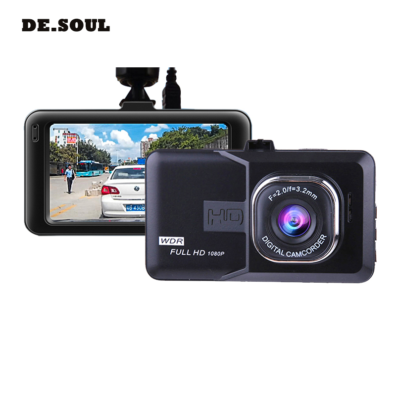 PARASOLANT 120 Wide-angle Car recorder Full HD 1080P Dash cam Loop Recorder English/Russian Dashcam Clear Night Vision Car Camer