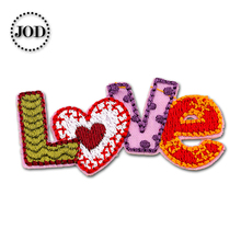 LOVE 6x2.5cm Embroidered Patches for Clothing Iron on Clothes Patch Children DIY Sew on Applications Applique Sewing Cartoon girl 6x4cm small embroidered patches for clothing iron on clothes patch children diy sew on applications applique sewing cartoon
