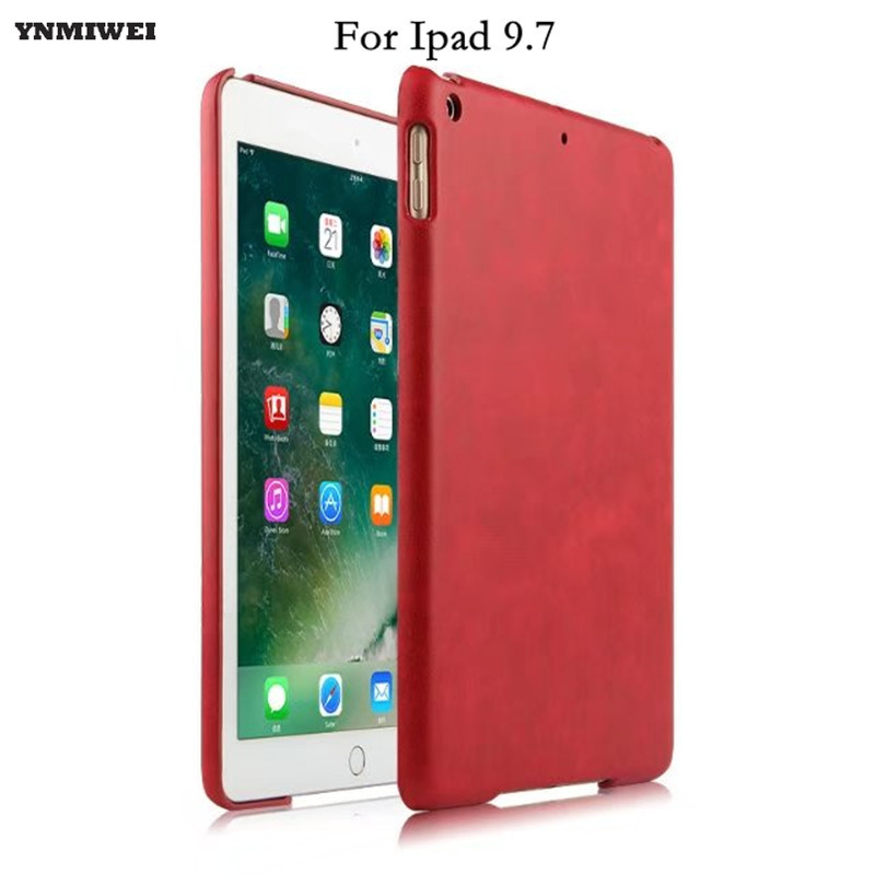 Back Shell For New ipad 9.7 2017 Genuine Leather Cover Case For New ipad 9.7 inch A1822 A1823 Ultra Thin Slim Case +protector back shell for new ipad 9 7 2017 genuine leather cover case for new ipad 9 7 inch a1822 a1823 ultra thin slim case protector