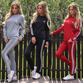 2016 Women Fashion Long Sleeve Casual Set Tracksuit Pullover Sweatshirt Pants