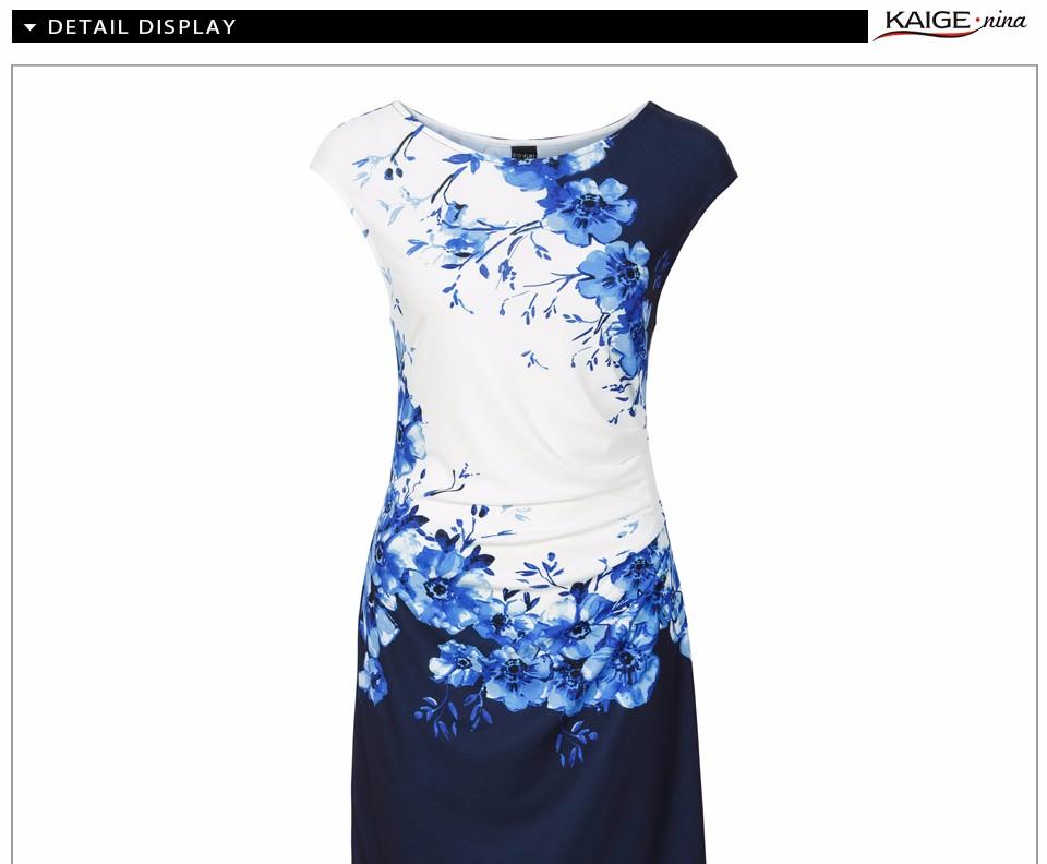 17 Kaige Nina dress Women bodycon dress plus size women clothing chic elegant sexy fashion o-neck print dresses 9026 8