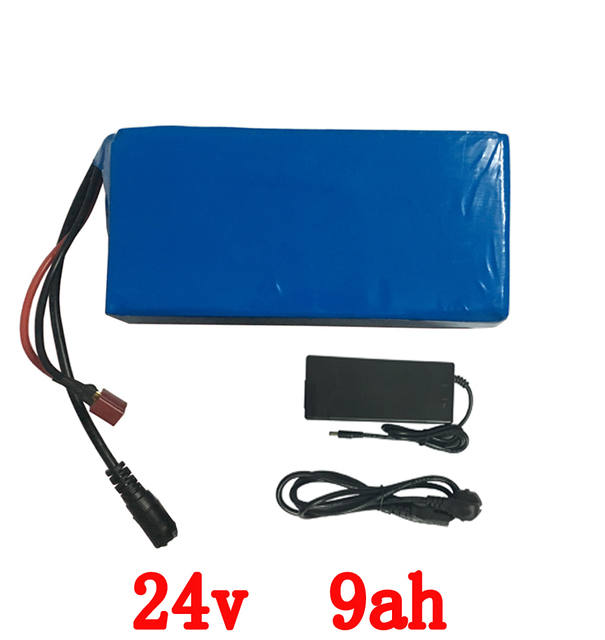 24v 10ah lithium ion battery 24v 9ah electric bicycle battery with 15A BMS+29.4V 2A charger for 250w 350w motor free shipping