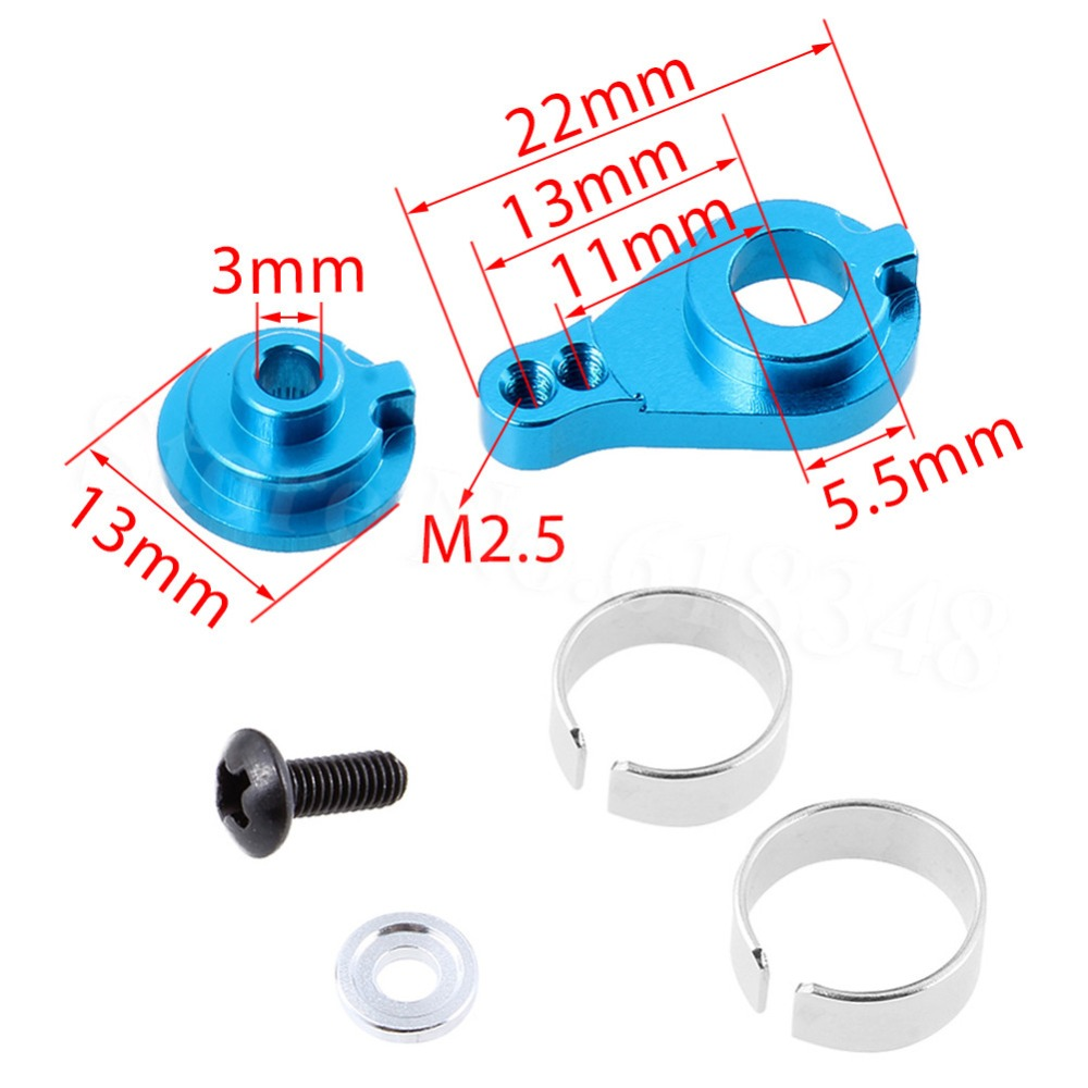 Aluminum Alloy 25T Steering Servo Horn Arm For WLtoys 1/18 RC Model Car A949 A959 A969 A979 K929 Upgrade Parts 2pcs hsp 106017 106617 aluminum steering linkage 06016 front rear servo link 1 10th upgrade parts for r c model car buggy