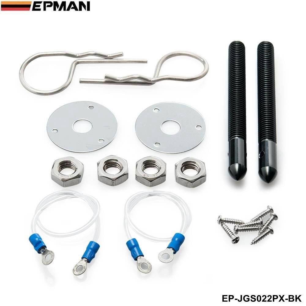 Universal Racing Epman Sport Hair Pin Style Hood Pin Locking Kit With Lanyard For VW GOLF GTI MK3 MK7 MK5 EP-JGS022PX