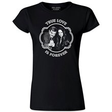 True Love Is Forever Women Morticia Gomez Addams Family T Shirt 2018 Brand Clothing Harajuku T-Shirt New 100 % Cotton