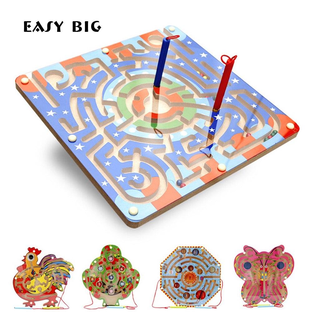 FACILE GRAND Unisexe Magnétique puzzle en bois Jouets Pour Enfants Éducatifs Animaux jouets pour enfants TH0018