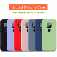 Mate 20 Silicone Liquid Cases For Huawei Pro Case Soft Candy Gel Rubber Full Protective Mate20 X