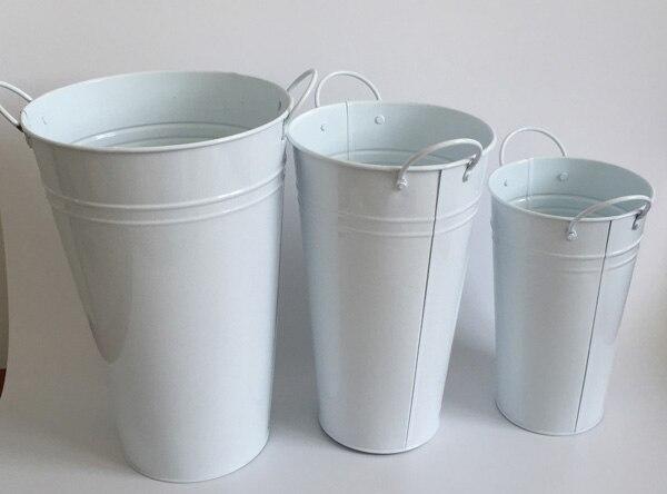 wholesale 10pcs lot white small large vase pots wedding flower tub