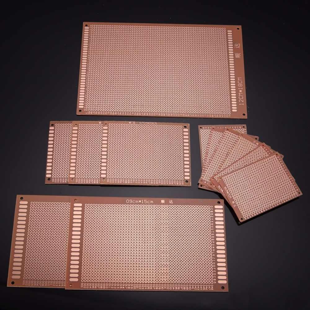 12 шт./компл. DIY макетная плата PCB высокого качества печатная схема прототип макетная доска Stripboard 4 размера для монтажных компонентов