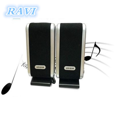 Portable USB 2,0 Power 3,5mm para Notebook Escritorio PC altavoz auriculares micrófono Audio Jack HY-218 Mini plástico