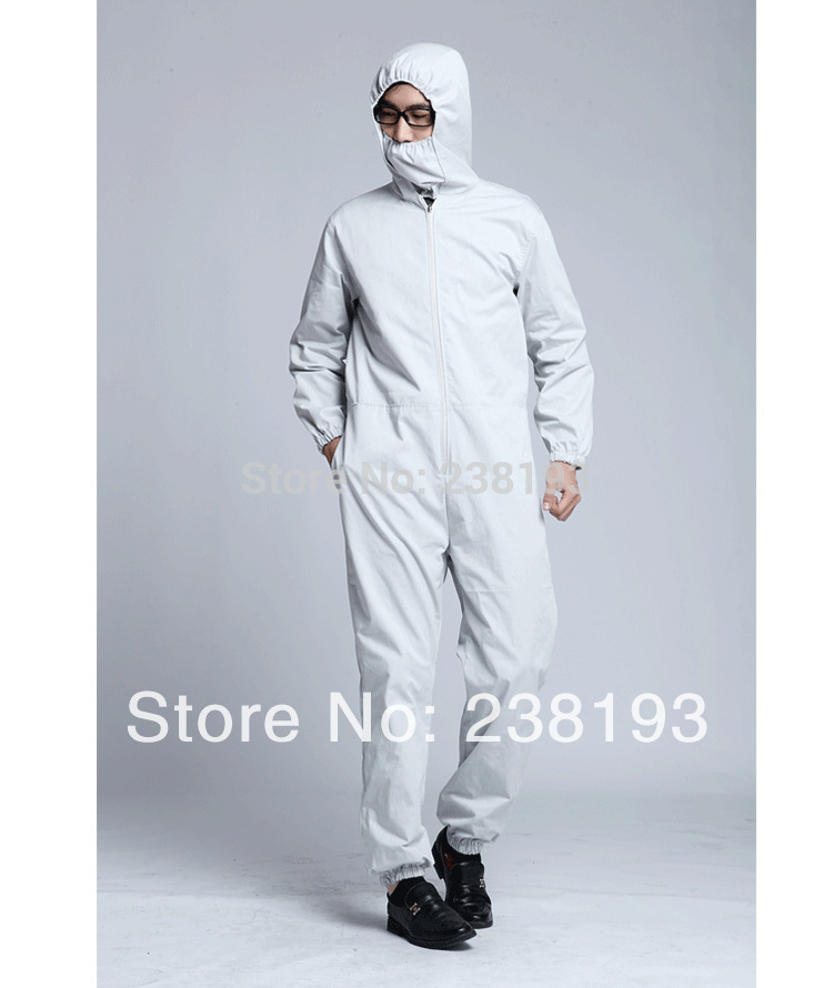 Custom factory electrical appliances machine room anti radiation work clothing EMF shielding Coverall RFID Blocking garment