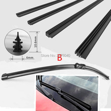 Free Shipping car Windscreen Wipers Blade(Refill) for Peugeot 2008 206 207 208 3008 301 308 508 Manager Partner RCZ car Wiper cheap PUOU 2011 2015 2014 2013 2012 2010 ISO9001 OU-156 wiper refill Natural rubber 2017Year 0 8cm