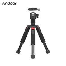 """5 секционный Выдвижной Штатив Andoer K521 из алюминиевого сплава с мини шариковой головкой 1/4 """"винтовое крепление для камеры Canon Nikon Sony DSLR ILDC"""