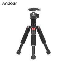 """Andoer K521 5 sectie Uitschuifbare Aluminium Statief met Mini Ball Head 1/4 """"Schroef Mount voor Canon Nikon sony DSLR ILDC Camera"""
