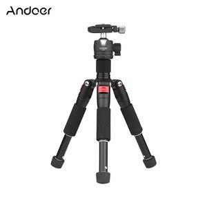 "Image 1 - Andoer K521 5 section Extendable Aluminum Alloy Tripod with Mini Ball Head 1/4""Screw Mount for Canon Nikon Sony DSLR ILDC Camera"