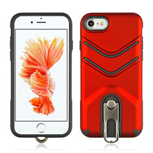 Shock Proof Absorption TPU+PC Scrub With Rotating Bracket Mobile Phone Case For iPhone 7 8 4.7 Dirt Resistant