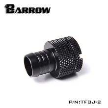 "Barrow water cooler Stop Fitting 3/8"" Black/Silver/White/Gold Water Cooling Hand Twist for water cooling heatsink gadget fitting(China)"