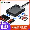 Ugreen Leitor de Cartão USB 3.0 Tudo em Um cartão SD/Micro SD/TF/CF/MS Compact Flash adaptador de Cartão de Memória Tipo C OTG inteligente Leitor de Cartão SD