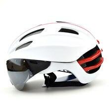Adjustable Bicycle Helmet Mountain Bike Helmet MTB Road Cycling Helmet with Lens and Insect Net 57-62cm