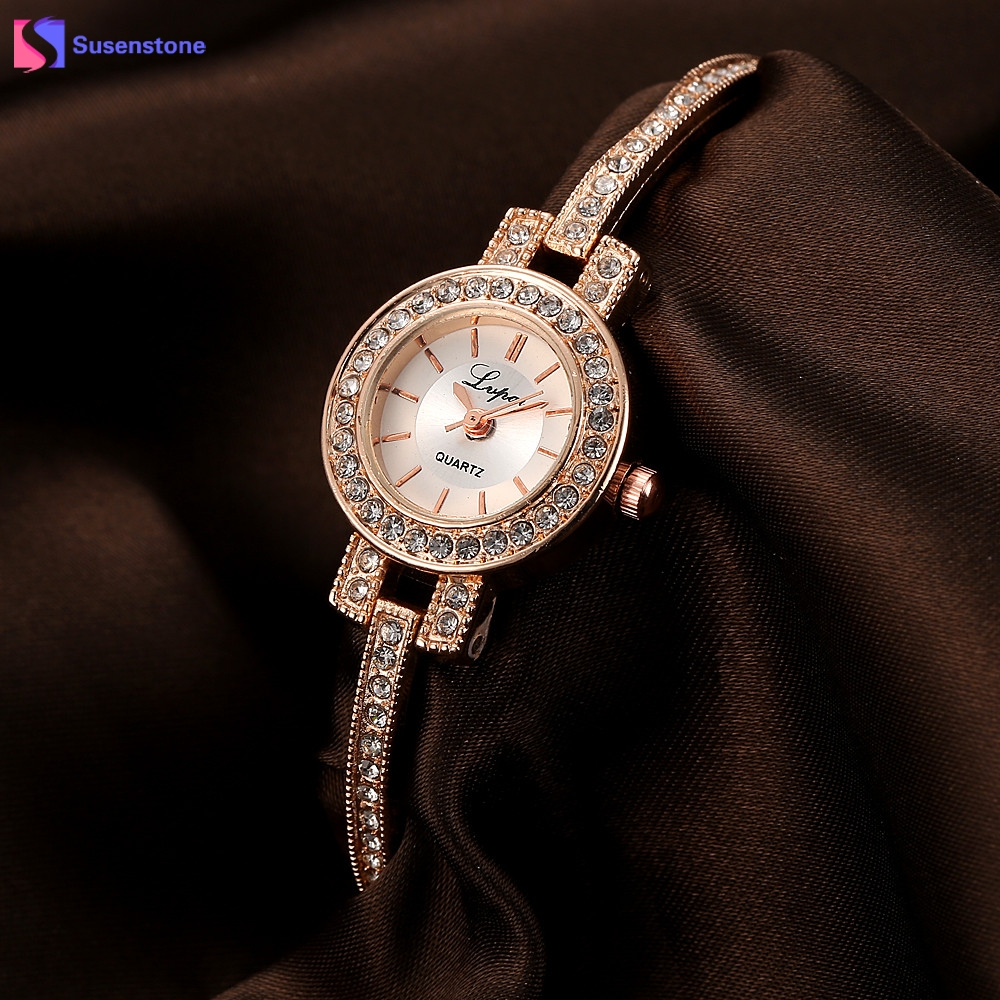 LVPAI Fashion Brand Ladies Watch Women Rhinestone Crystal Rose Gold Stainless Steel Small Analog Quartz Wrist Watch reloj mujer weiqin luxury gold wrist watch for women rhinestone crystal fashion ladies analog quartz watch reloj mujer clock female relogios