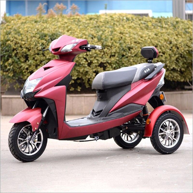 800 W Électrique tricycle trottinette électrique Citycoco 72 V/20A led Plomb acide batterie Trois roues vélo motos électriques