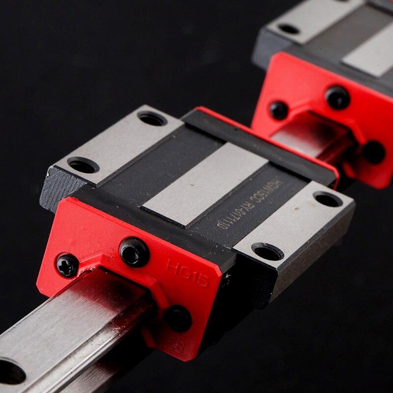 Rail de précision 1PC HGH25 Linéaire guide + 2 pièces HGH25CA Bloc ou HGW25CC Bride Bloc L 300 400 500 600 700 800-1500mm pour CNC