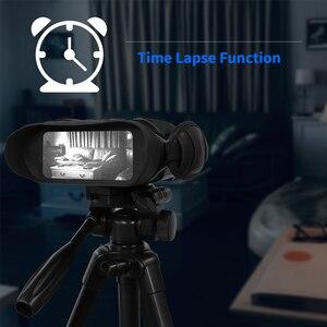 Image 4 - מקצועי ראיית לילה 32G IPX4 400m HD IR מצלמה תמונה וידאו 5x זום סט זמן מסך רחב משקפת משקפת עבור ציד