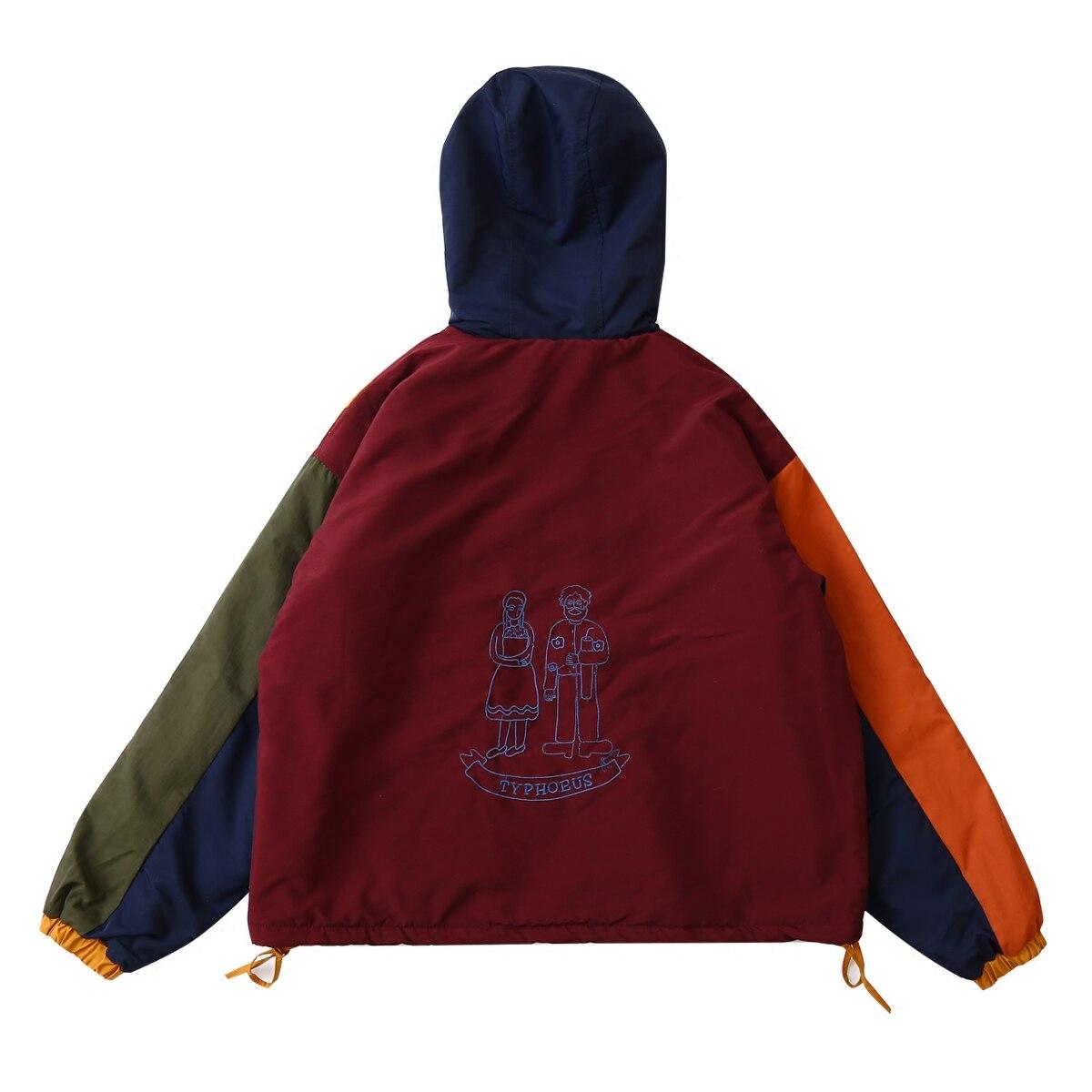 Design Nouveau D'hiver Zipper Velours Outwear Femmes Chaude Multi Patchwork Coton À Doublure Printemps Épais Parkas Vintage Vestes Capuchon Manteau q54wEEA