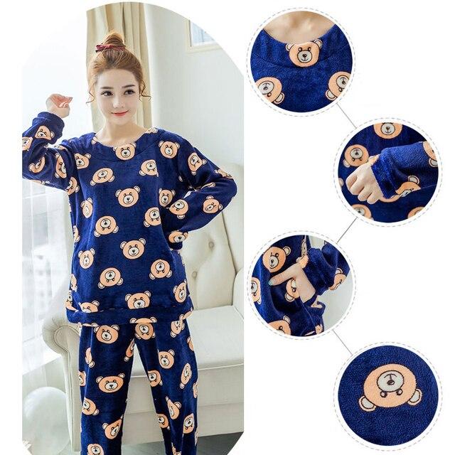 Aliexpress.com : Buy Plus Size Flannel Pajamas Sets Dark ...