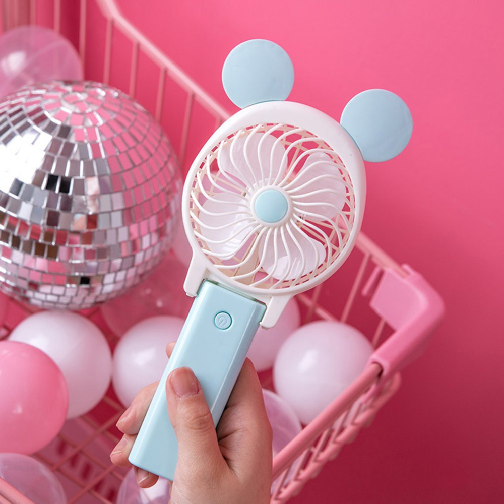 2018charging mini cartoon hand with portable usb fan folding student electric fan portable dormitory small wind small office fan hand held mini chargeable small fan portable student dorm room holding hands carry usb electric fan small size soft comfortable