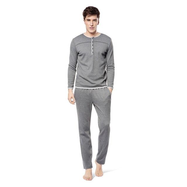 2016 winter mens soft silk satin sleepwear loungwear robes pajamas pyjamas set