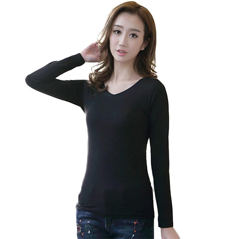 Футболка YSDNCHI Женская с длинным рукавом, модная однотонная свободная Базовая рубашка в стиле Харадзюку, черный и белый цвета, на весну-осень