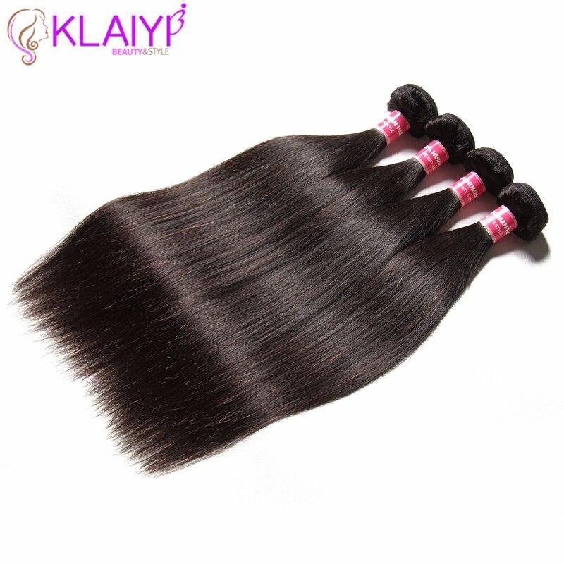 KLAIYI волосы перуанский прямые волосы Комплект s Волосы remy ткет 4 Комплект предложения Природный Цвет человеческих волос Бесплатная доставка ...