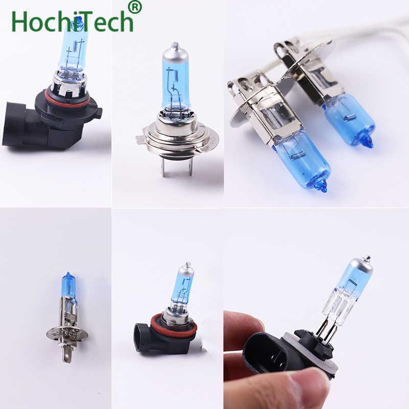 Super White Halogen Bulb H1 H3 H4 H7 H8 H11 9005 HB3 9006 HB4 9004 9007 12V 55W 100W 6000K Quartz Glass Car Headlight Lamp