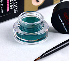 1Set Green Eyeliner Waterproof Cream With Brush Make Up Comestics Eye Liner Cream Pen Beauty Essentials Makeup Gel Glitter