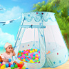 Kids Ocean Ball Pit Pool Toys Fairy House Playhut Tent Baby Toy Tents Pink Blue Baby Girls Outdoor& Indoor Princess Play Tent
