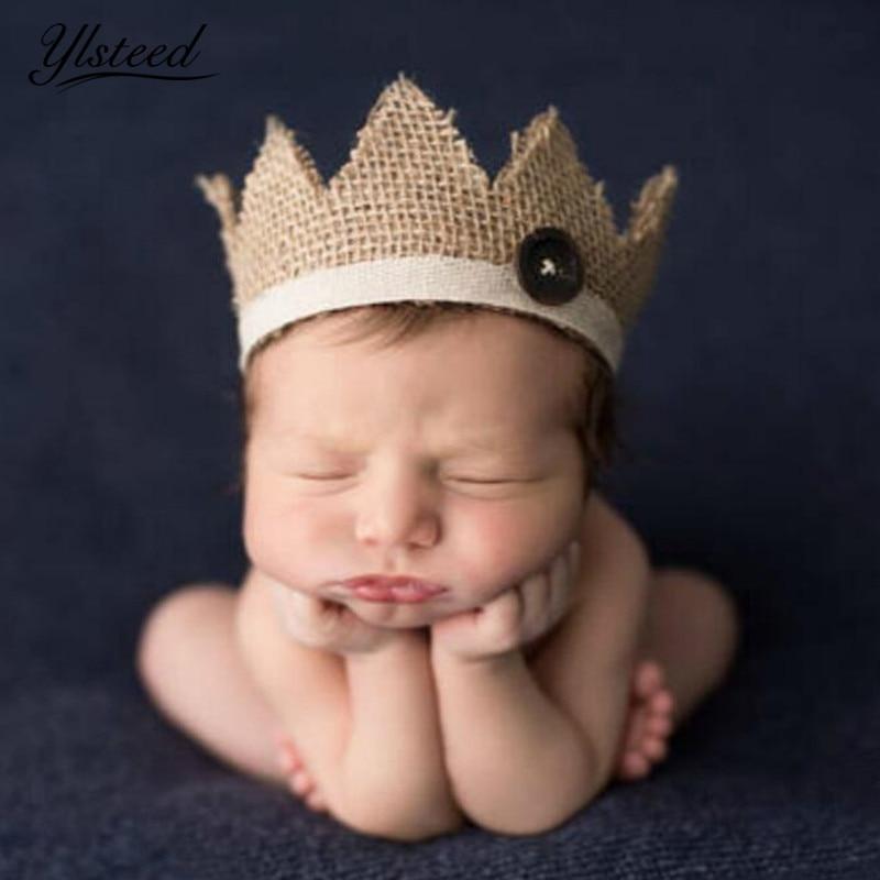 0-2 Jahre Alten Neugeborenen Fotografie Requisiten Baby Crown Hut Für Foto-shooting Natur Retro Baby Jungen Mädchen Foto Requisiten Crown Kopfbedeckungen