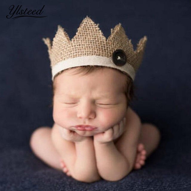 0-2 Years Old Newborn Photography Props Baby Crown Hat for Photoshoot  Natural Retro Baby 7aab0c5d971d