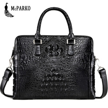 Genuine crocodile leather briefcase men Fashion alligator skin laptop Bag High-end business bags black