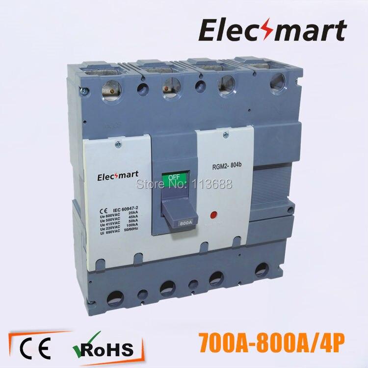 800A 4 P circuit disjoncteur à grande mccb