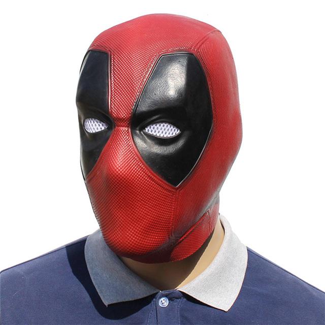 Movie Deadpool Cosplay Mask Latex Full Head Helmet Deadpool Wade Winston Wilson Party Costume Masks Adult Funny Props