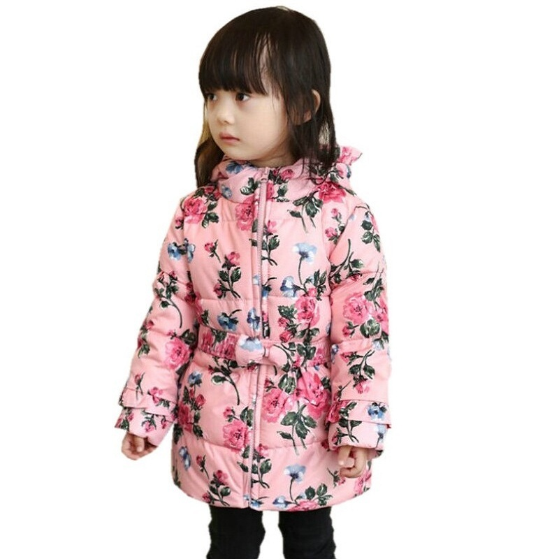 2016 Spring Winter 90% Down Girls Coat Thick Hooded Duck Down ...