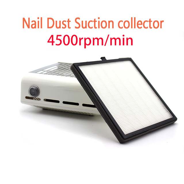 Strong 4500rpm Min Nail Fan Art Salon Suction Dust Collector Machine Vacuum Cleaner Uv
