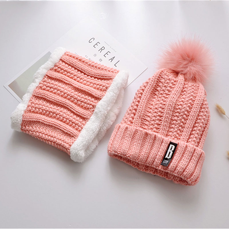 pom pom hat women beanie hat Womens Beanies black pink winter hat solid  faux fur hat and scarf for women Skullies Beanies 70d781a434c
