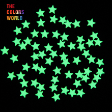 TCYJ825 Glow in dark Glitter Yellow Green Light Color long last glowing 6MM Star Shape competitive