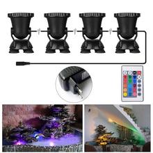 4 шт. RGB 36 светодиодный подводный свет дистанционного управления погружные огни для Пруд Танк аквариум пейзаж лампы Fish воды, био- -lighting